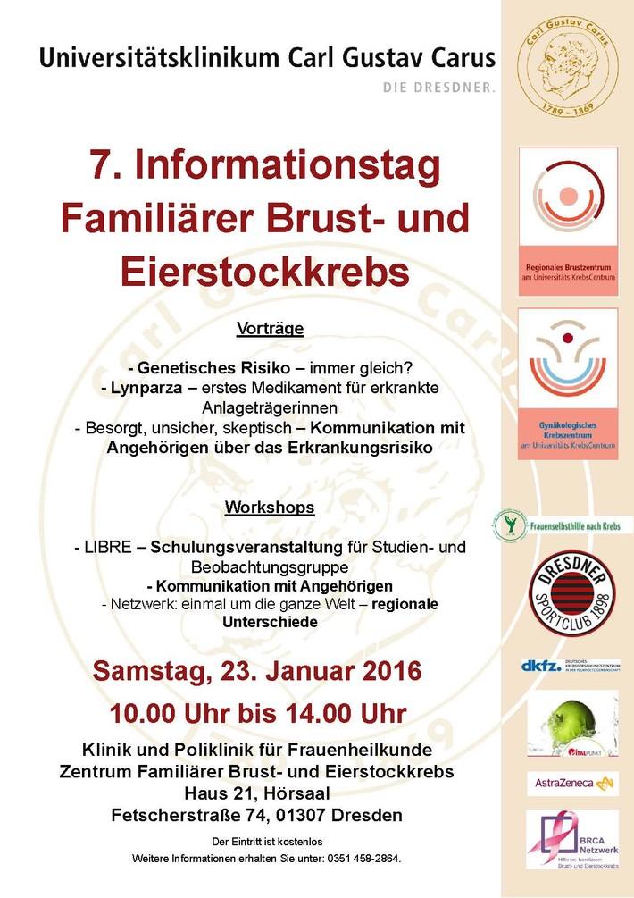 7. Informationstag Familiärer  Brust- und Eierstockkrebs