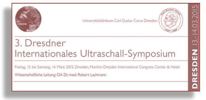 Ultraschall Kurs Dresden Logo Flyer