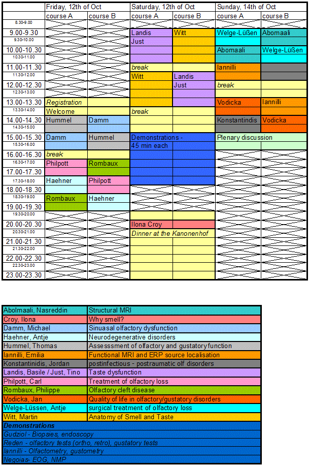 timetable 2012