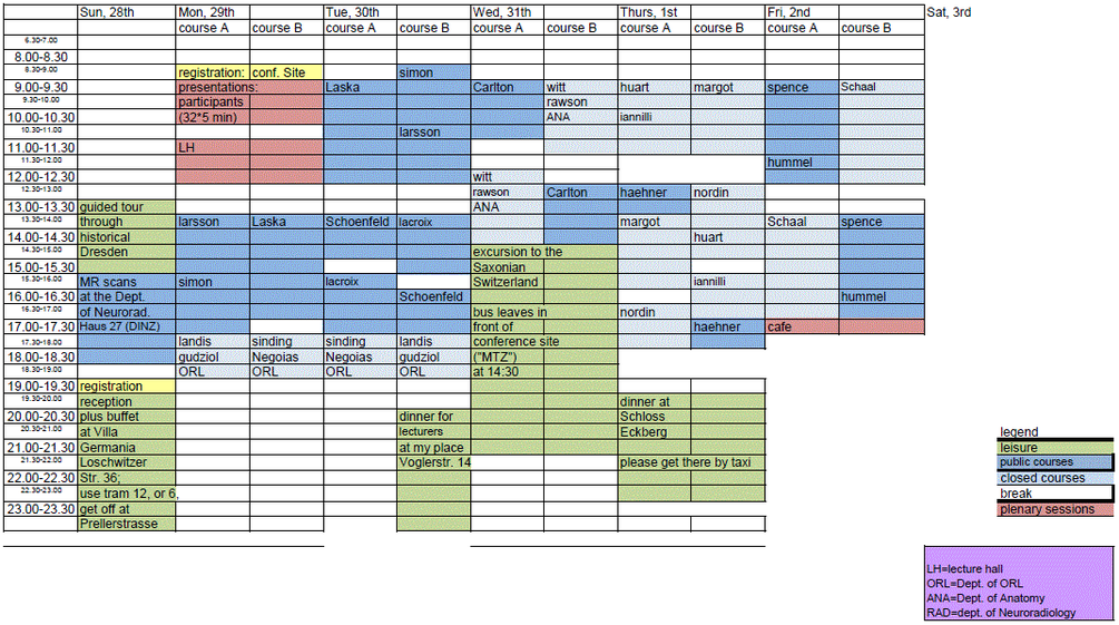 Timetable SS 2013