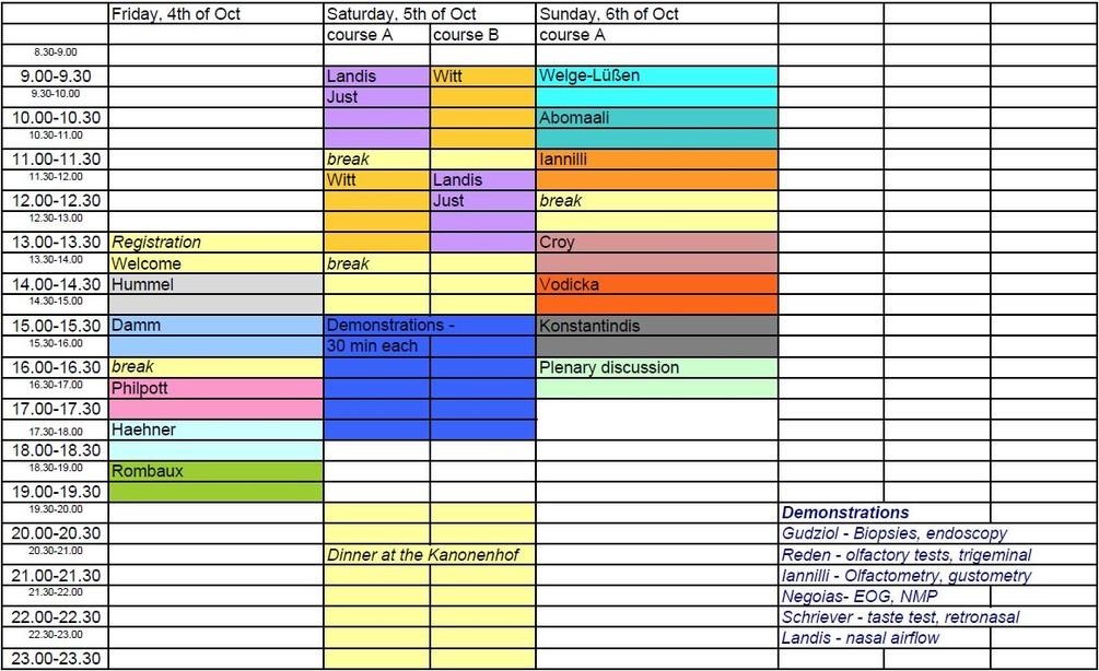 Timetable SaT05