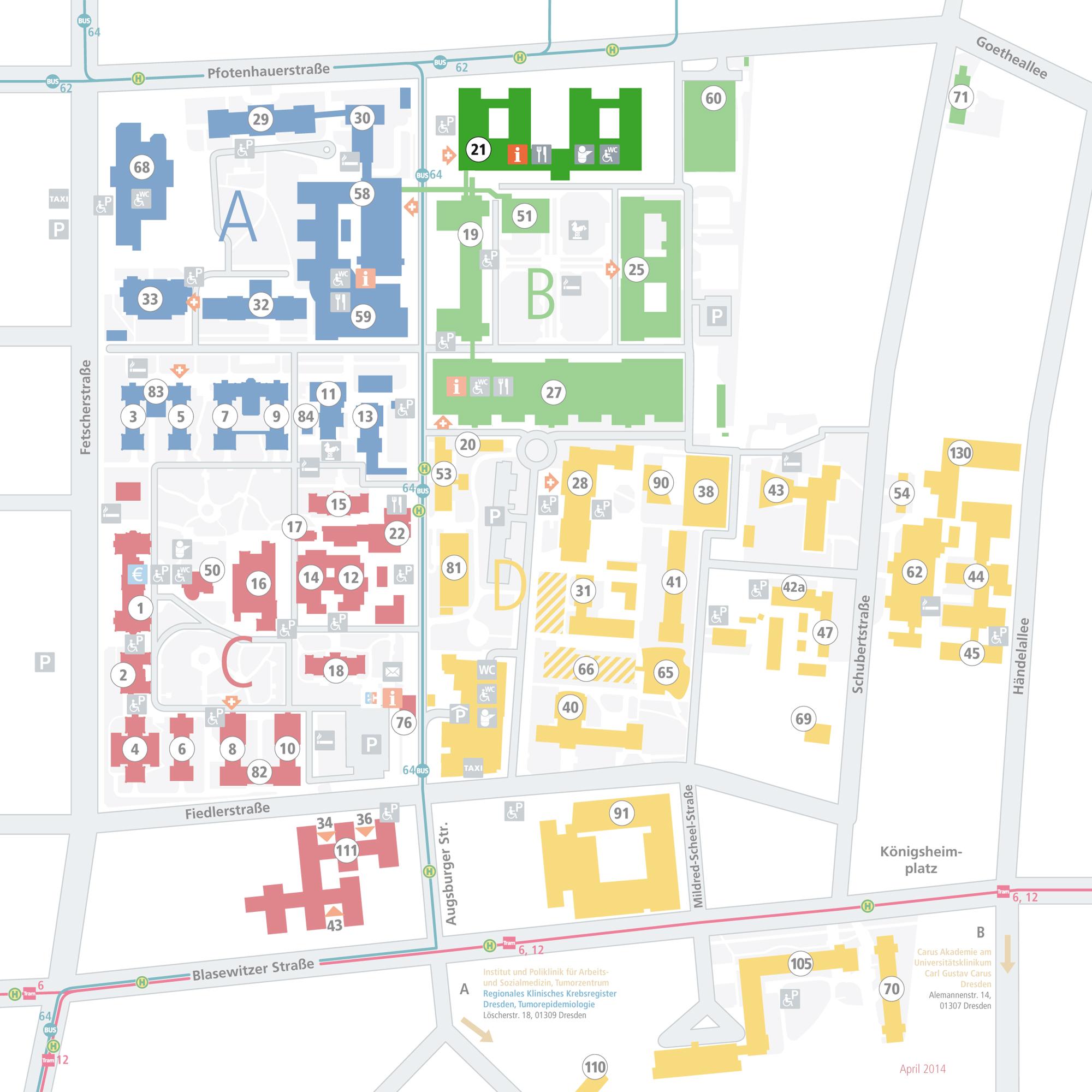 Lageplan Klinik und Poliklinik für Kinder- und Jugendmedizin - Haus 21