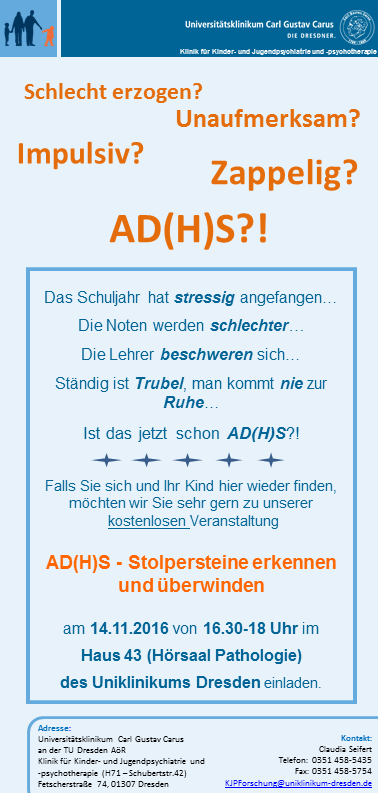 AD(H)S-Infoveranstaltung