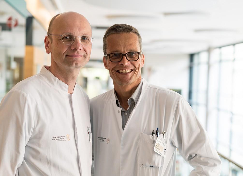 Prof. Hampe, Prof. Bornhäuser