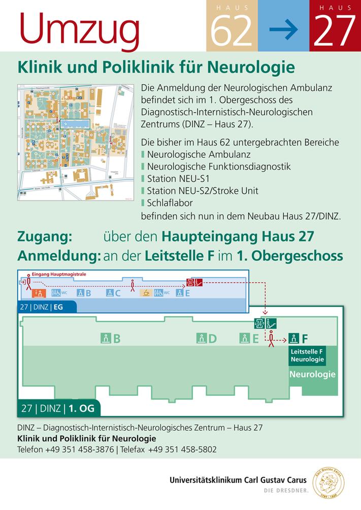 Umzug der Klinik und Poliklinik für Neurologie
