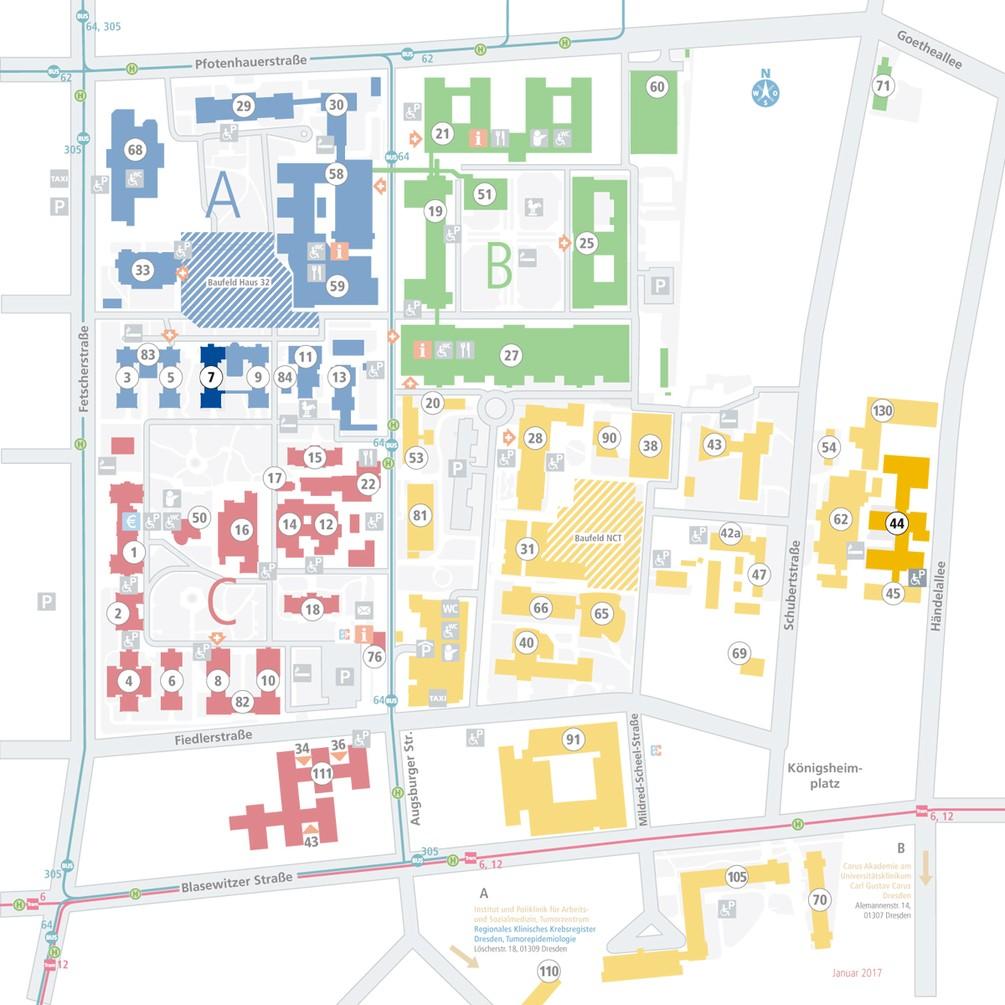 Lageplan - Haus 7 und Haus 44