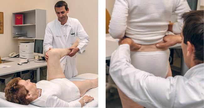 Ärztliche Untersuchung  bei der Hüftarthrose