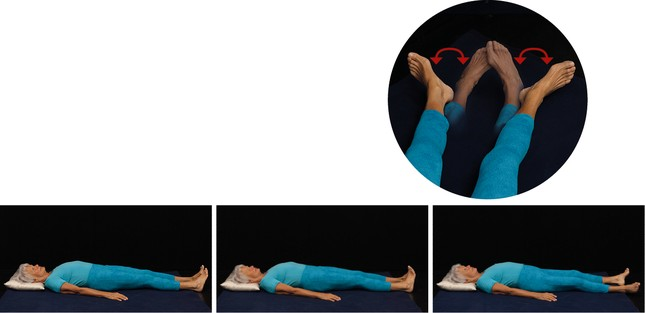 Ein- und Auswärtsdrehen der gestreckten Beine