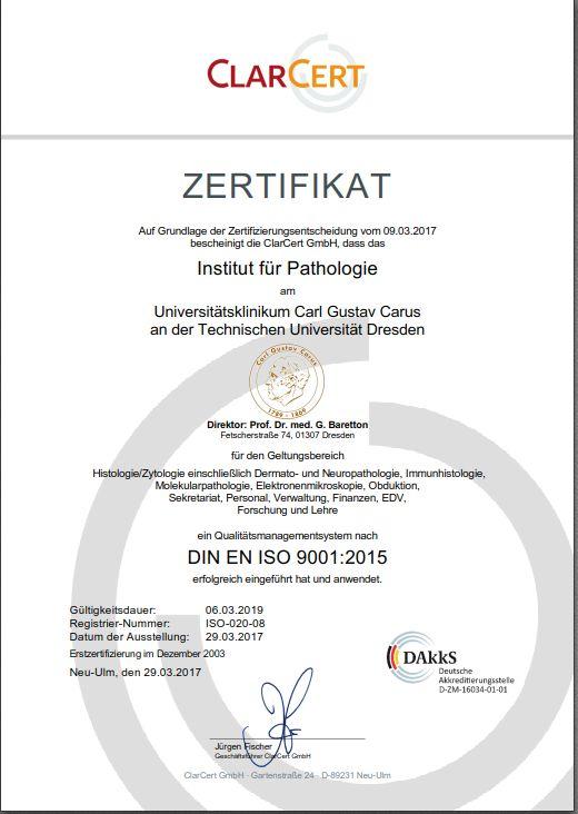 Zertifikat 29.03.2017