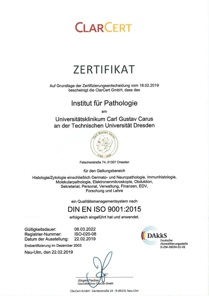 Zertifikat 22.02.2019