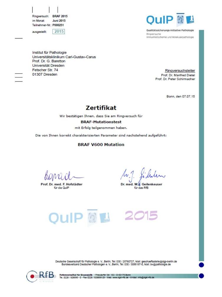 """""""BRAF- Mutationstest""""  (BRAF V600 Mutation)"""