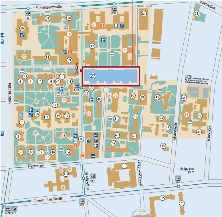 Lageplan Radiologie UKD