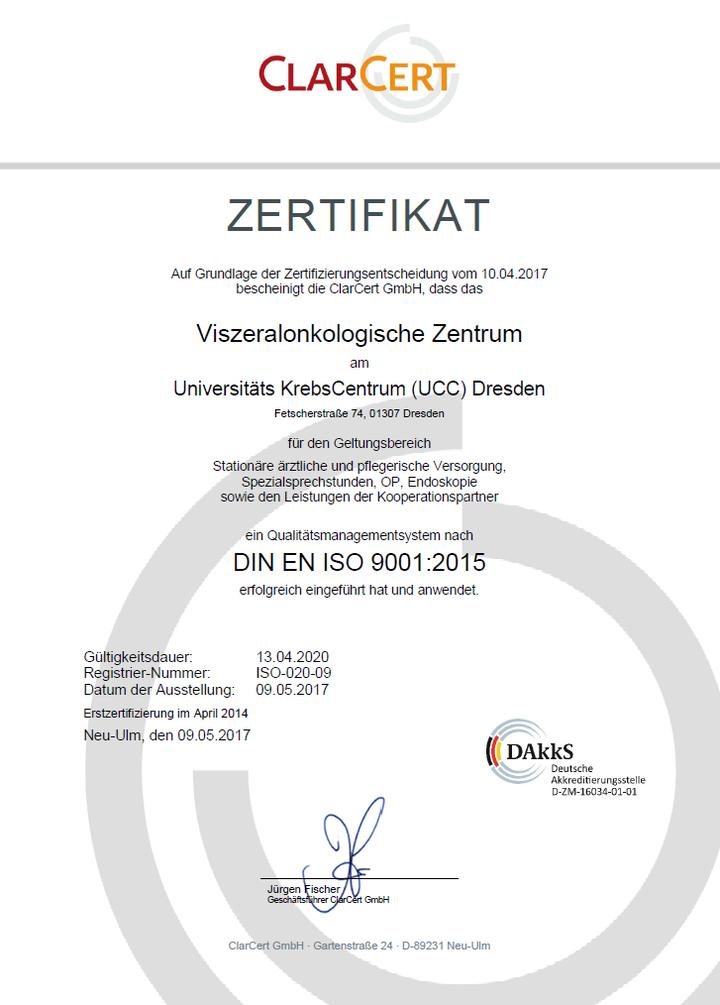 Zertifikat DIN ISO EN