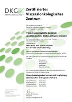 DKG_Zertifikat Viszeralonkologisches Zentrum