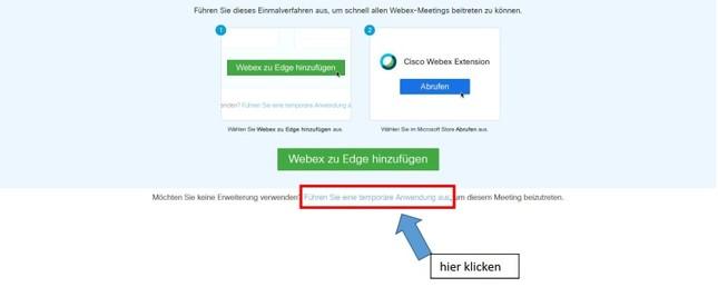 Anwendung webex