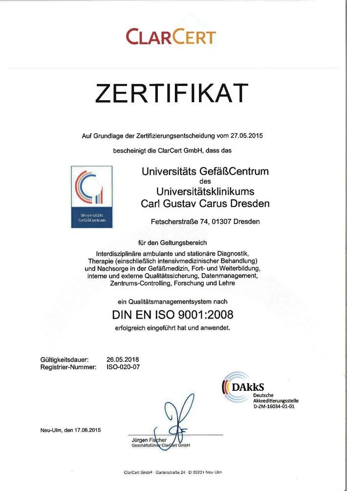 2015 - DIN EN ISO Zertifikat UGC
