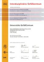 Zertifizierungsurkunde Fachgesellschaften 2012