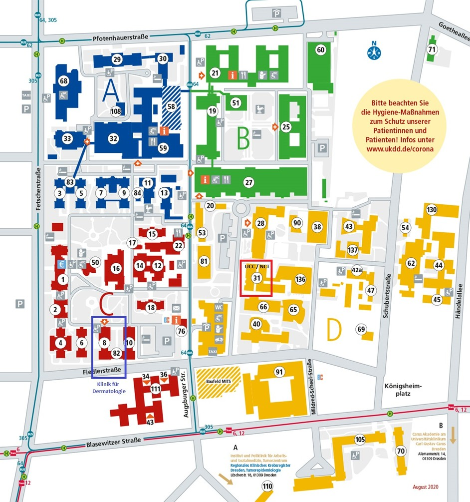 Lageplan UKD mit UCC und DER