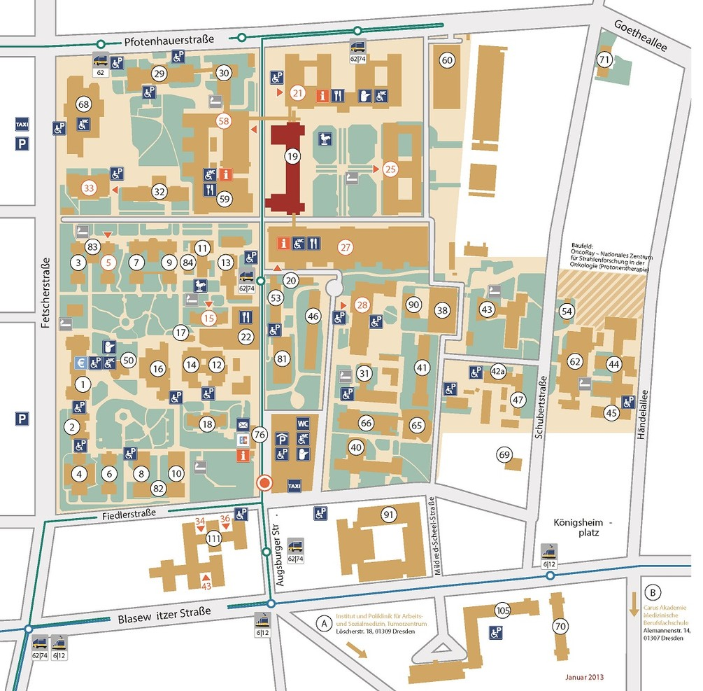 Lageplan Haus 19, DINZ - klein
