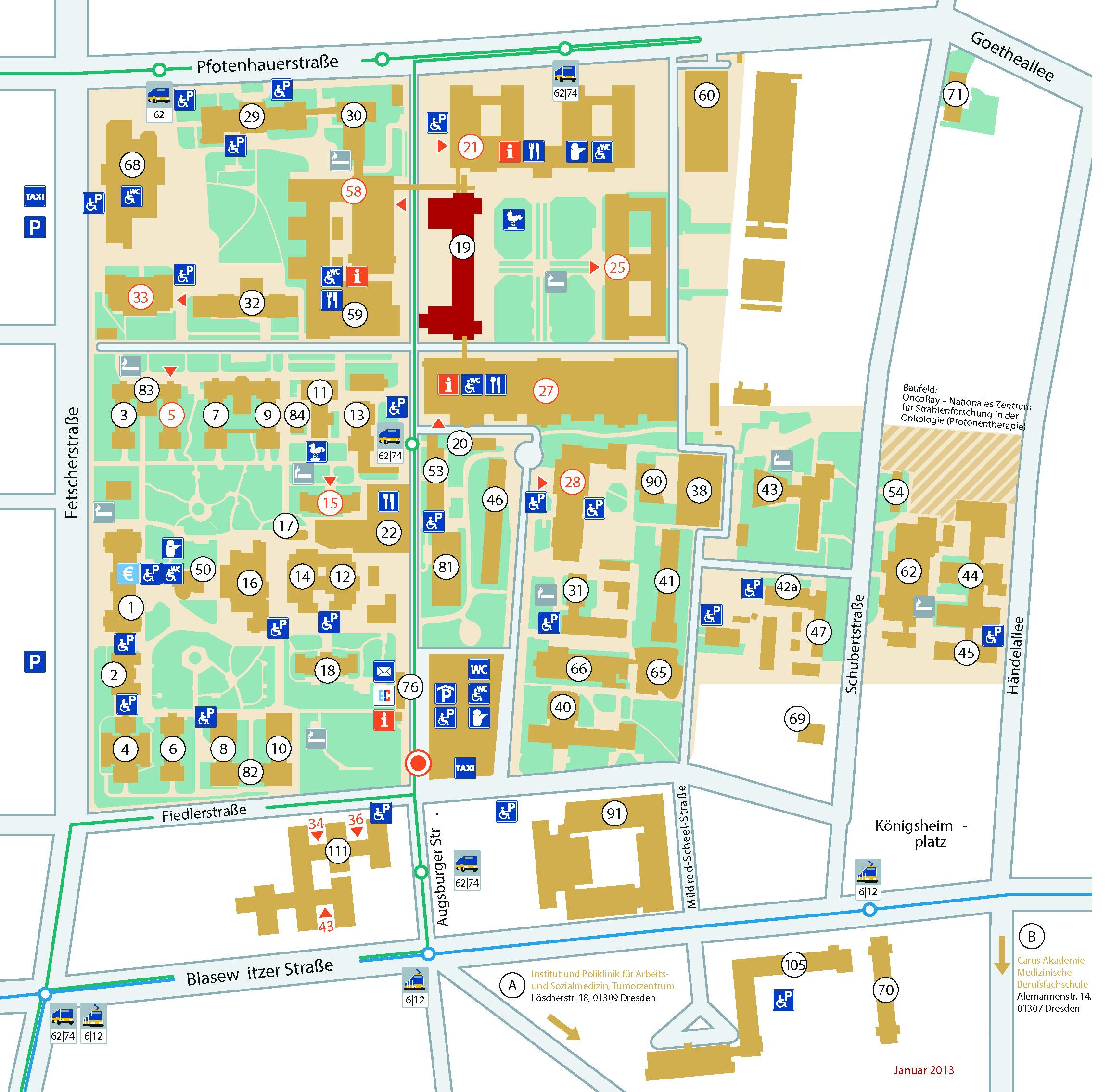Lageplan Haus 19, DINZ