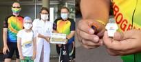 28. Regenbogenfahrt: Ehemalige Patienten besuchen die Kinderkrebsstation