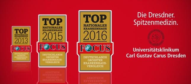 Focus-Ranking - Uniklinikum bundesweit unter den Top 3