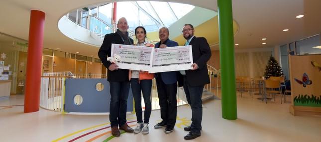 Wolfgang und Stephanie Stumph spenden 30.000 Euro an die Dresdner Kinderhilfe und den Sonnenstrahl e.V.