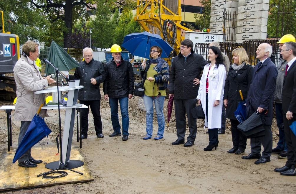 Grundsteinlegung UCC-Portalklinik am 16. Oktober 2014