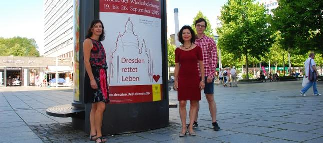 Lebensretter bestimmen im September das Dresdner Stadtbild