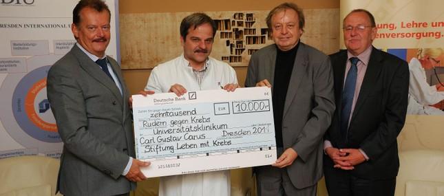 11. Oktober 2011: Spenden und Einnahmen aus Ruder-Regatta kommen Palliativ-Patienten zugute