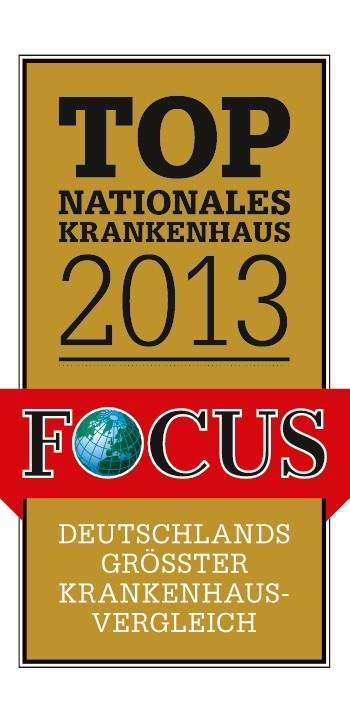 28. Mai 2013: Klinikum behauptet Spitzenplatz in Focus-Krankenhaus-Ranking