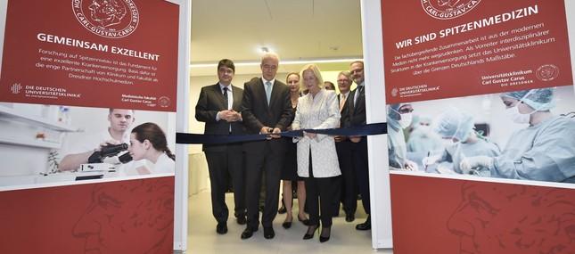 22. August 2014: Bundesforschungsministerin eröffnet Universitäts Protonen Therapie Dresden