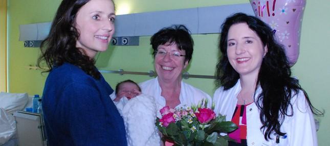 28. Mai 2014: Mit Greta Clementine wurde bereits im Mai das 1.000. Baby des Jahres im Uniklinikum geboren