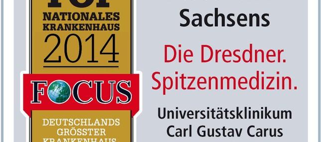 """6. Oktober 2014: Universitätsklinikum behauptet Spitzenplatz beim Ranking des """"Focus"""""""
